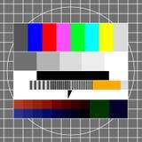 TV test image. Illustration of a retro tv test image Royalty Free Stock Photos