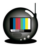 TV with Test Pattern Stock Image