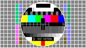 Television screen color test pattern - Seamless loop