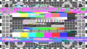 Free TV Test Pattern Glitch Bad Stock Image - 185413861