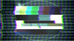 TV Test Pattern loop stock footage
