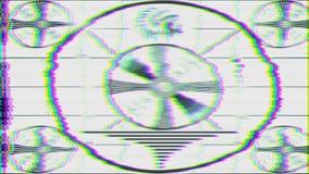 TV Test Pattern loop stock video