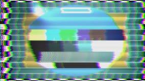 TV Test Pattern loop stock video footage