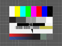 Tv test screen Stock Images
