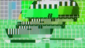 TV test tablet with glitch interference on lcd screen background animation - new quality digital twitch technology. Colorful video footage stock footage