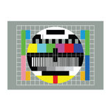 Tv test vector Stock Image