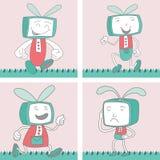 TV Toon Character Set 1 Stock Afbeeldingen