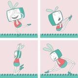 TV Toon Character Set 2 Royalty-vrije Stock Afbeeldingen