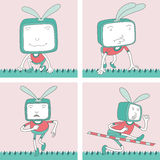 TV Toon Character Set 10 Stock Foto