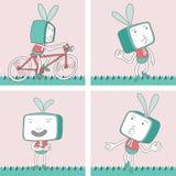 TV Toon Character Set 15 Royalty-vrije Stock Afbeelding