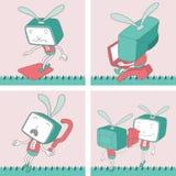 TV Toon Character Set 16 Royalty-vrije Stock Afbeelding