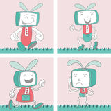 TV Toon Character Set 1 Stock Images