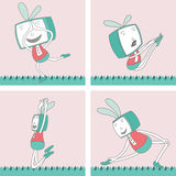 TV Toon Character Set 2 Royalty Free Stock Images