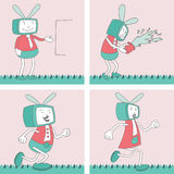 TV Toon Character Set 4 Stock Images