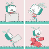 TV Toon Character Set 14 Royalty Free Stock Photography