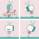 TV Toon Character Set 15 Royalty Free Stock Image