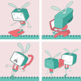 TV Toon Character Set 16 Royalty Free Stock Image