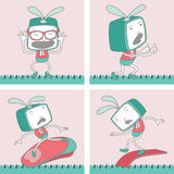 TV Toon Character Set 18 Royalty Free Stock Photos