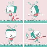 TV Toon Character Set 19 Stock Photos