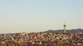TV-toren in Trondheim stock foto