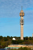 TV Tower. Spring Landscape with a television tower against a blue sky Royalty Free Stock Photography