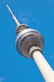 Tv tower in Alexanderplatz, Berlin Stock Photos
