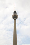 TV Tower at Alexanderplatz in Berlin Stock Image