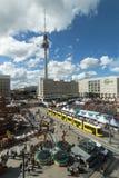 Tv tower and Alexanderplatz, Berlin Royalty Free Stock Photo