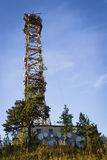 TV tower. On a background of blue sky Royalty Free Stock Images