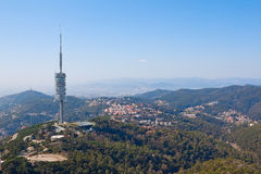 Tv tower in Barcelona Stock Photo