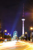 Tv tower in berlin. Germany, at night Royalty Free Stock Photo