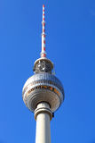 TV Tower in Berlin. The TV Tower located on the Alexanderplatz in Berlin, Germany Royalty Free Stock Photo