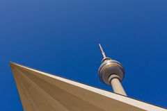 TV Tower Berlin. Before the Berlin TV tower Royalty Free Stock Image