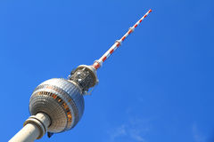 TV Tower in Berlin. The TV Tower located on the Alexanderplatz in Berlin, Germany Royalty Free Stock Photos
