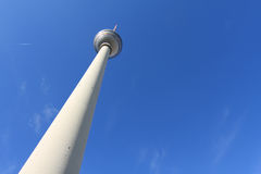 TV Tower in Berlin. The TV Tower located on the Alexanderplatz in Berlin, Germany Royalty Free Stock Photography