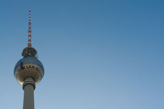 TV tower in Berlin. The TV tower in Berlin with clean sky Stock Photo