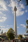 TV Tower Berlin at Alexander Place Royalty Free Stock Images