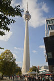 TV Tower Berlin at Alexander Place Stock Photo