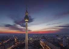 TV tower of Berlin at Alexanderplatz Royalty Free Stock Photography