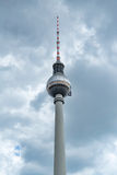 TV Tower in Berlin. The building in the center of the Germany capital. Royalty Free Stock Photography