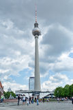 TV Tower in Berlin. The building in the center of the Germany capital. Royalty Free Stock Photos