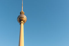 The TV Tower in Berlin in the evening Stock Photography