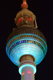 TV Tower Berlin - Festival of lights 2011 Stock Photography