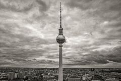 TV tower in Berlin. Germany Stock Photo