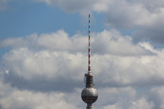 Tv tower berlin germany, sky, clouds and berlin tv tower Stock Photography