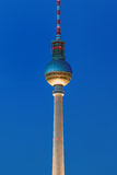 The TV Tower in Berlin. Illuminated at dawn Stock Image