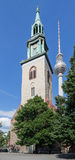 TV Tower Berlin Marienkirche Church Stock Photo