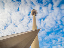 TV Tower in Berlin with modern architecture Royalty Free Stock Images