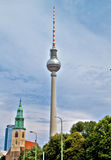 Tv Tower in Berlin Stock Images