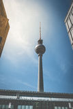 Tv Tower in BERlin - Television tower / Fernsehturm, Berlin Stock Image